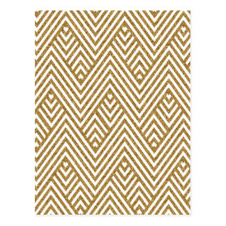 Pretty chevron zigzag diamond shapes pattern postcard