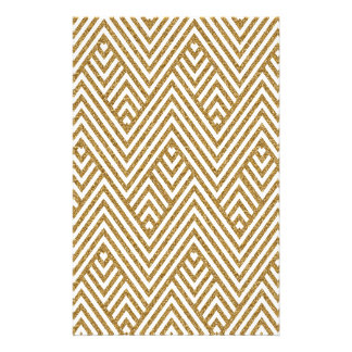 Pretty chevron zigzag diamond shapes pattern stationery