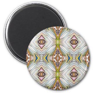 Pretty Chic Artistic Tribal Pattern 6 Cm Round Magnet