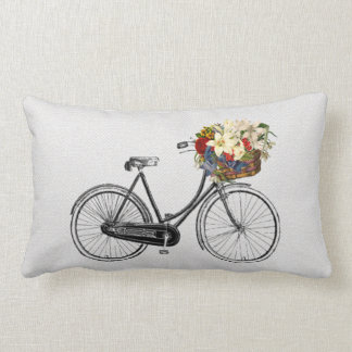 Pretty chic  bicycle flower bike decor pillow