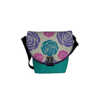 pretty chic bright roses commuter bags