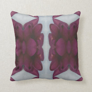Pretty Chic Burgundy Magenta Abstract Floral Cushion