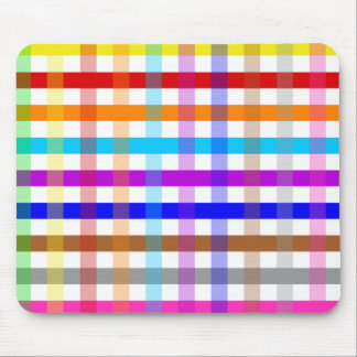 Pretty Chic Multi Gingham Checked Fabric Pattern Mouse Mat
