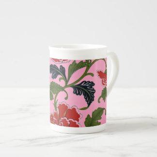 Pretty Chinese Floral Pattern Bone China Mug