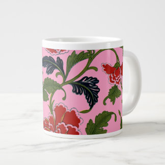 Pretty Chinese Floral Pattern Teaset Jumbo Mug