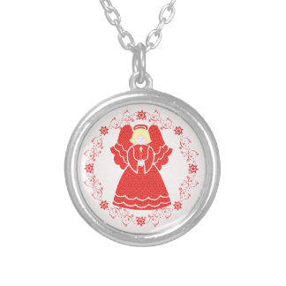 Pretty Christmas Angel In Red Lace Jewelry
