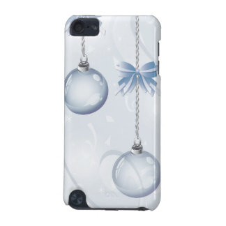 Pretty Christmas Baubles and Bows in Blue iPod Touch (5th Generation) Covers
