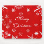 Pretty Christmas mousepad with snowflakes