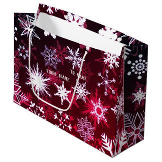 Pretty Christmas snowflakes Large Gift Bag