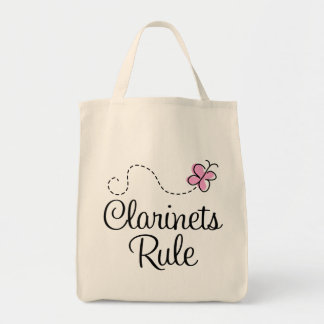 Pretty Clarinets Rule Music Gift Tote Bag