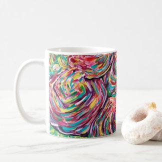Pretty coffee mug, artsy mug, painters mug