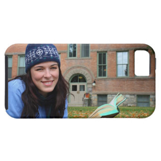 Pretty college student studying in autumn leaves tough iPhone 5 case