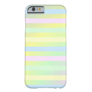 pretty colored pastel stripes barely there iPhone 6 case
