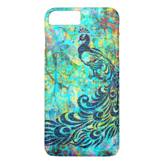 Pretty Colorful Bright Turquoise Peacock Abstract iPhone 8 Plus/7 Plus Case