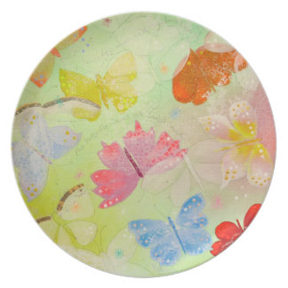 Pretty Colorful Butterflies. Plate