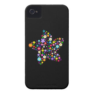 Pretty Colorful Floral Star iPhone 4 Cases