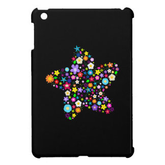 Pretty Colorful Floral Star iPad Mini Cases