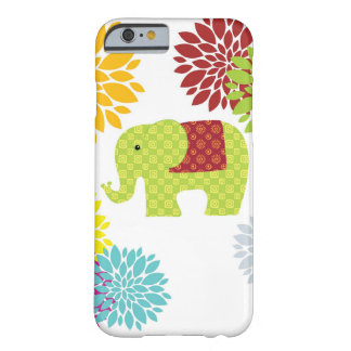 Pretty Colorful Hippie Elephant Flower Power Barely There iPhone 6 Case