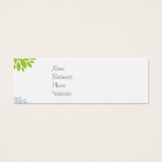 Pretty Colorful Hippie Elephant Flower Power Mini Business Card
