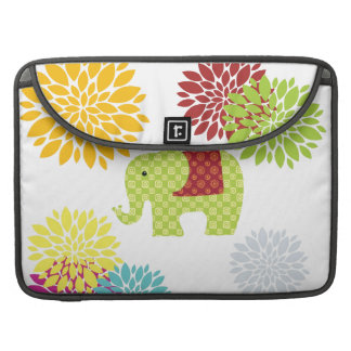 Pretty Colorful Hippie Elephant Flower Power Sleeve For MacBooks