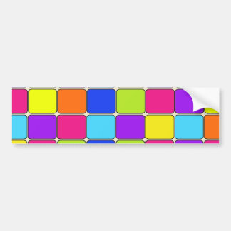 Pretty Colorful Mosaic Tile Pattern Gifts for Her Bumper Sticker