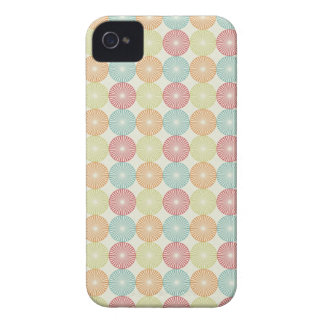 Pretty Colorful Pastel Textured Circles Pattern iPhone 4 Case-Mate Case