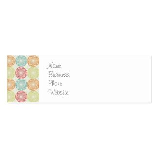 Pretty Colorful Pastel Textured Circles Pattern Pack Of Skinny Business Cards