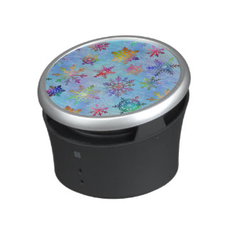Pretty Colorful Snowflakes Christmas Pattern Bluetooth Speaker