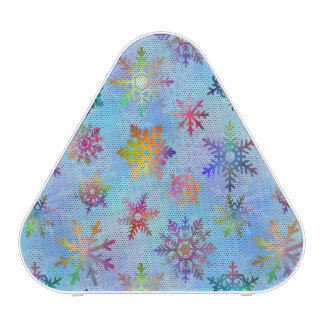 Pretty Colorful Snowflakes Christmas Pattern