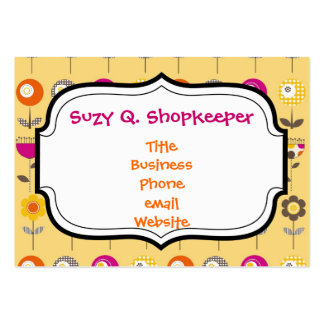 Pretty Colorful Spring Flowers Whimsical Pattern Pack Of Chubby Business Cards