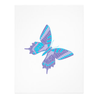 pretty cool pastel butterfly 21.5 cm x 28 cm flyer