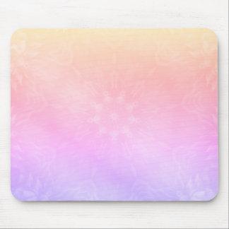 Pretty Cool Pastel Rainbow Mandala design Mouse Mat