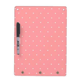 Pretty Coral and White Polka Dots Gift Dry Erase White Board