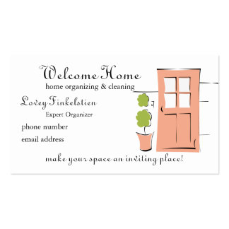 Pretty Coral Door Business Card Template