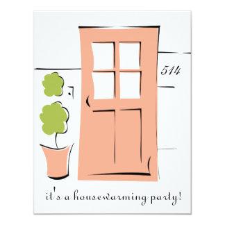 Pretty Coral Door 11 Cm X 14 Cm Invitation Card