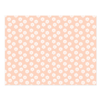 Pretty Coral Pink Color Floral Pattern Post Cards