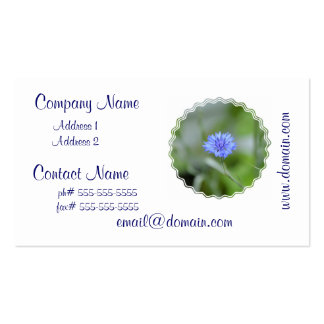 Pretty Cornflower Business Card Templates