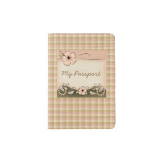 Pretty Country Plaid Passport Holder