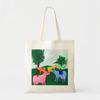 Pretty cows budget tote bag