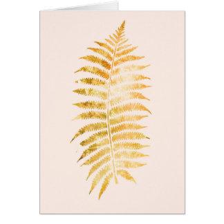 Pretty Cream and Gold Fern Leaf Card