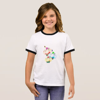 Pretty cupcake splash ringer T-Shirt