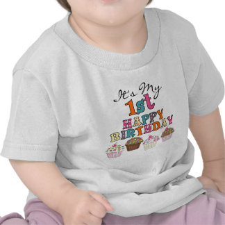 Pretty Cupcakes 1st Birthday Tshirts and Gifts