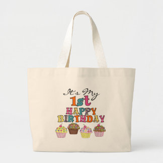 Pretty Cupcakes 1st Birthday Tshirts and Gifts Jumbo Tote Bag