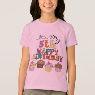 Pretty Cupcakes 5th Birthday Tshirts and Gifts