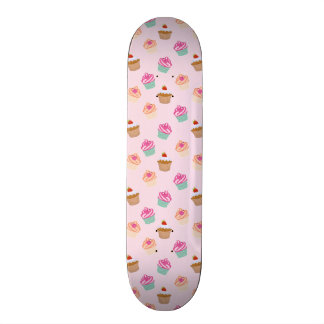 Pretty Cupcakes In Pink Skate Board Deck