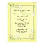 Pretty Custom Floral Recital Invitation