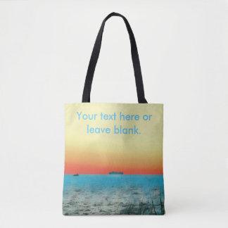 Pretty Customizable Artistic Coastal Landscape Tote Bag