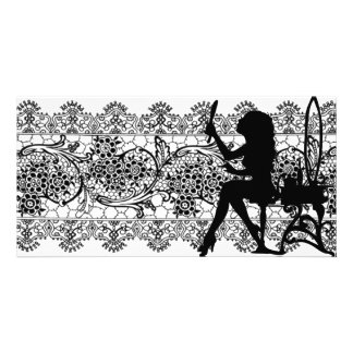 Pretty Customized Vintage Lace Photo Card