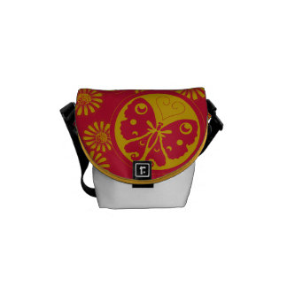 Pretty cute Butterfly pattern Courier Bags