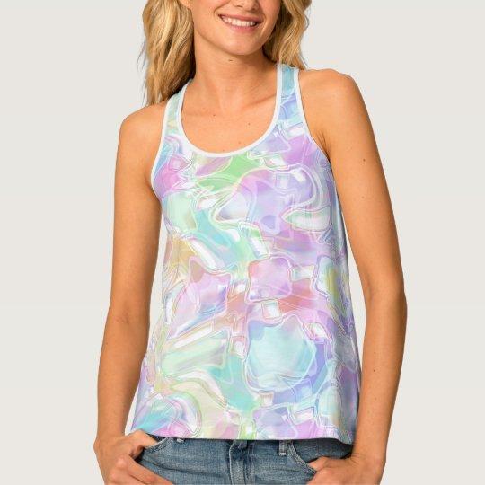 Pretty Cute Colourful Futuristic Swirls Pattern Tank Top